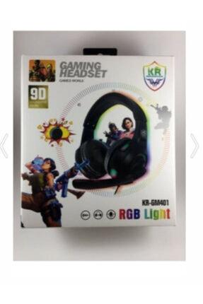 KR Siyah Miofonlu Kulaküstü Oyun Kulaklığı Rgb Light -gm401 2