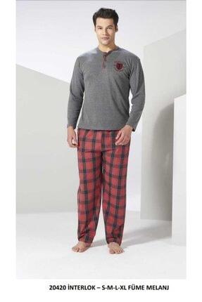 20420 Erkek 2 Iplik Pijama Takımı Gri resmi