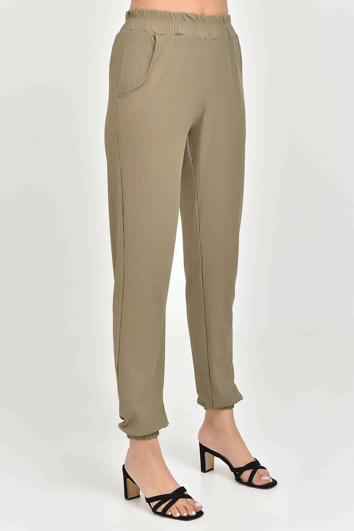 Modakapimda Haki Cepli Şalvar Pantolon