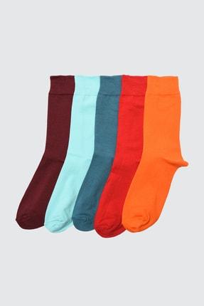 TRENDYOL MAN Çok Renkli Erkek 5'li Paket Çorap TMNSS20CO0004 0