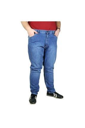 Modexl Büyük Beden Erkek Pantolon Kot Barbara 20905 Mavi 0