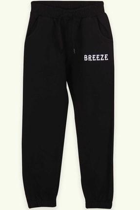 Breeze Kız Çocuk Eşofman Altı Baskılı Siyah (8-12 YAŞ) 0