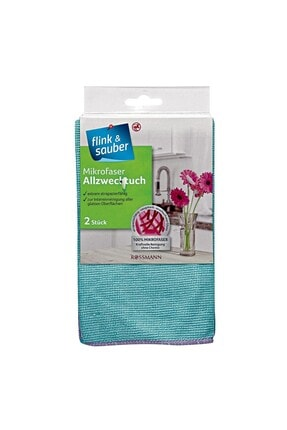 Flink Sauber Flink & Sauber Mikrofiber Temizlik Bezi Genel Kullanım, 32x37 Cm 2 Adet 2