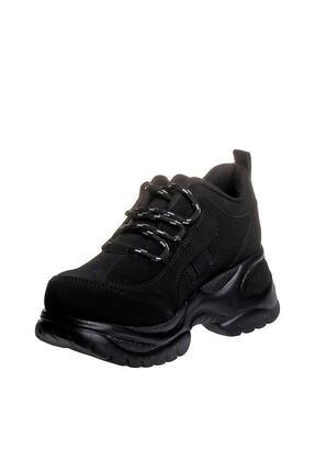 MP Kadın Dolgu Topuk Siyah Casual Ayakkabı 192-305zn 100 1