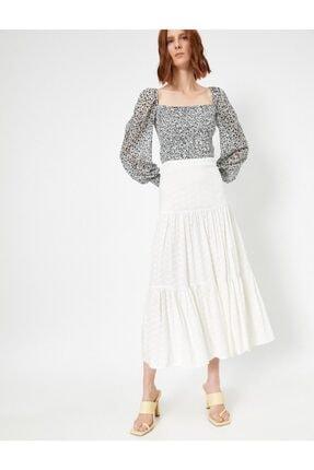Koton Skirtly Yours Styled By Melis Agazat Firfir Detayli Etek 0