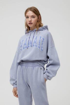 Pull & Bear Gri Hawaii Sweatshirt 0