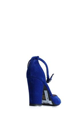 PUNTO Kadın  Mavi Süet Günlük Topuklu Ayakkabı 642437 1