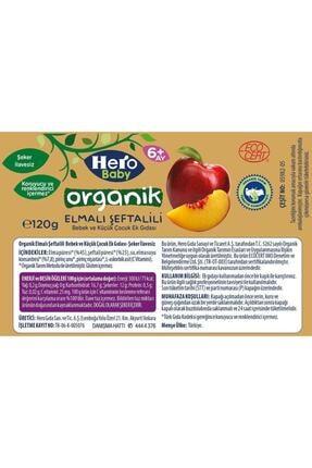 Hero Baby Organik Elma Şeftali ve Kayısı Muz Kavanoz Mama 120g 12 Adet 4