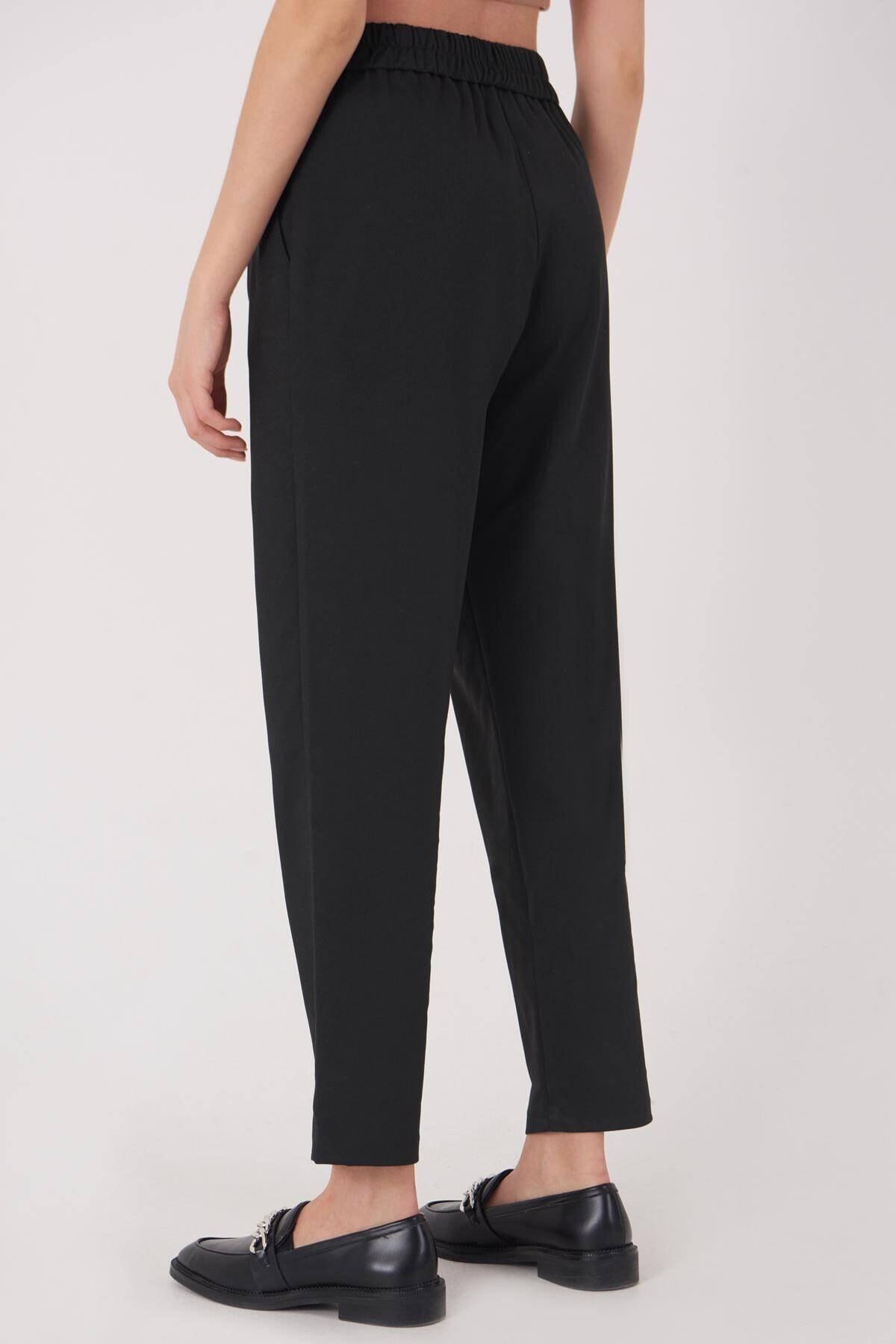 Addax Kadın Siyah Cep Detaylı Pantolon Pn8096 - E6 Adx-0000023579 4