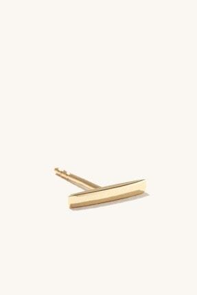 GençTaş Kuyumculuk 14 Ayar Altın Minimalist Çubuk Kadın Küpe 0