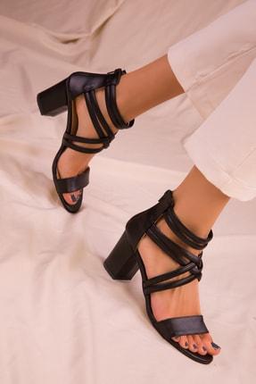 Soho Exclusive Sıyah Kadın Klasik Topuklu Ayakkabı 14670 0