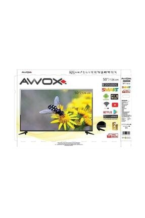 "AWOX B205000s 50"" 127 Ekran Uydu Alıcılı 4k Ultra Hd Smart Android Led Tv 3"