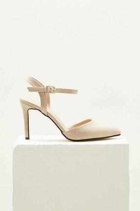 Mio Gusto Lucia Bej Bilek Bantlı Topuklu Ayakkabı 3