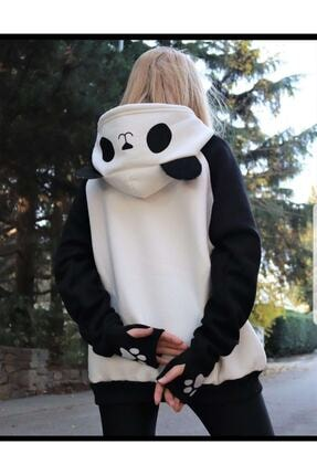 arer butik Kadın Siyah Panda Sweatshirt 1