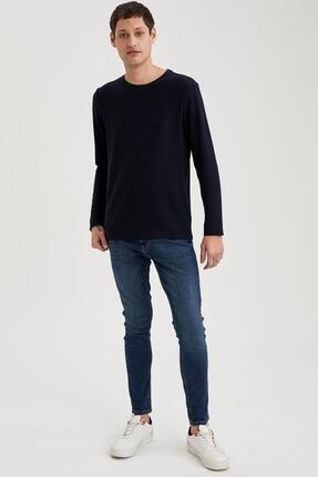 Defacto Uzun Kollu Esnek Dokulu Slim Fit Basic Tişört 1
