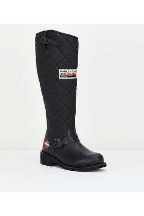 Harley Davidson Kadın Siyah Çizme 2