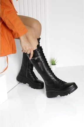 POLO PRESTIGE Kadın Siyah Cepli Spor Çizme 1