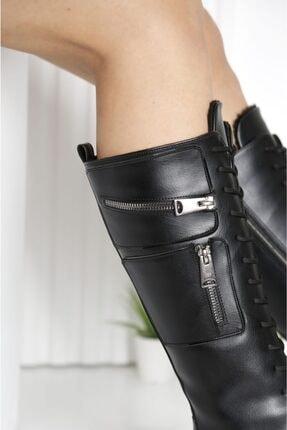 POLO PRESTIGE Kadın Siyah Cepli Spor Çizme 2