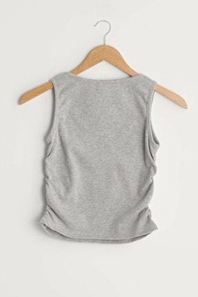 LC Waikiki Kadın Açık Gri Melanj LCW Limited Bluz 1