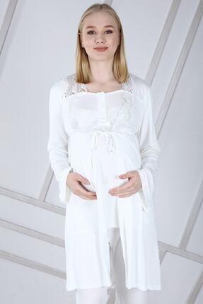 Duchesse Lohusa Sabahlıklı Pijama Takımı 1002 2