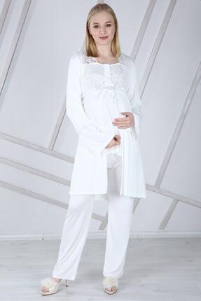 Duchesse Lohusa Sabahlıklı Pijama Takımı 1002 4