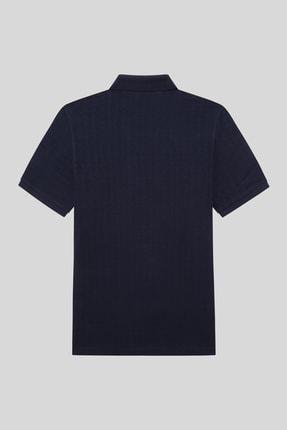 Halifaks Erkek Lacivert Polo Yaka T-shirt 2
