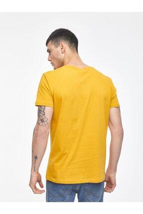 Ltb Erkek  Sarı  Baskılı  Kısa Kol Bisiklet Yaka T-Shirt 012208453260890000 3