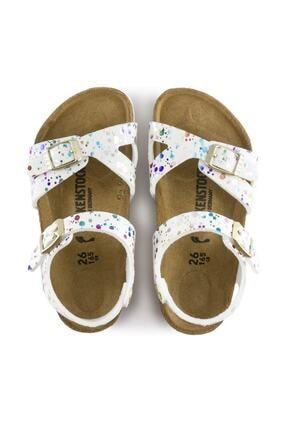 Birkenstock Unisex Çocuk Beyaz Konfeti Sandalet 1015987 2
