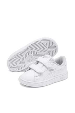 Puma Puma Smash V2 L V Inf Beyaz Beyaz Unisex Çocuk Sneaker Ayakkabı 100414633 resmi