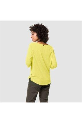 Jack Wolfskin Kadın Sarı Spor Sweatshirt Jwp 3 4 T W 1