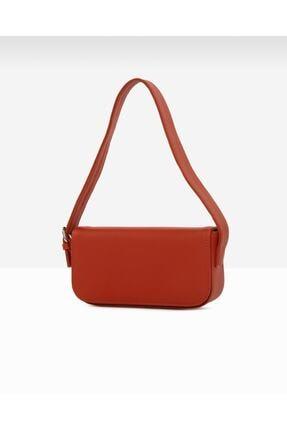 bag&more Kadın Kırmızı Kapaklı Baget Omuz Çantası 1