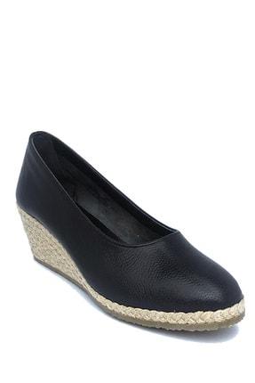 Kadın Siyah Dolgu Topuk Ayakkabı 21