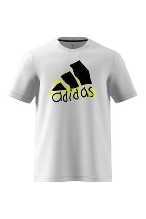adidas Erkek Beyaz T-shırt Gn6844 0
