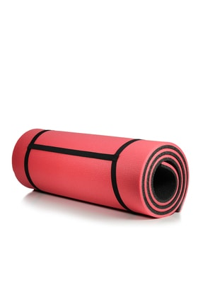 Walke 16 Mm Pilates Kamp Matı Kırmızı Siyah Taşıma Askılı 1