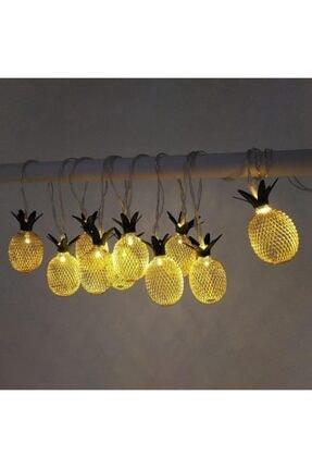 Taled 3 Boyutlu Animasyonlu Pineapple Ananas Şerit Led Işık 1 M 10 Led Günışığı Dekoratif Led 4