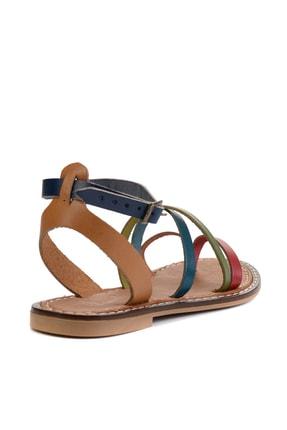 Bambi Hakiki Deri Çok Renkli Kadın Sandalet L0602809503 3