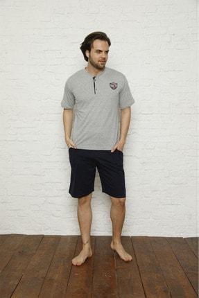 PİJAMUS Erkek Yarım Kol Şortlu Penye Pijama Takımı 0
