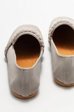 Elle Kadın Gri Deri Loafer Ayakkabı 3