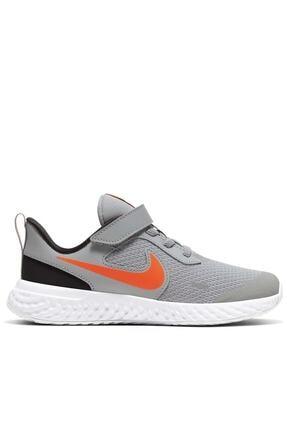 Nike Unisex Çocuk Gri Yürüyüş Koşu Ayakkabı Bq5672-007 Revolutıon 5 Psv 0