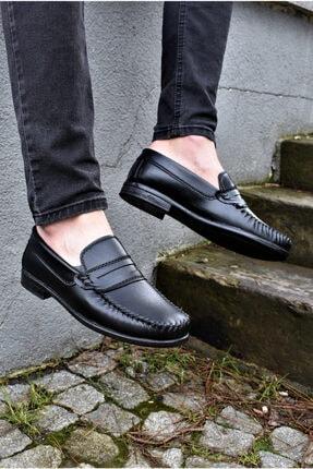 ALBİDÜNYA Erkek Siyah Cilt Klasik Ayakkabı 2