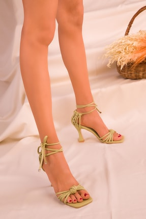 Soho Exclusive Yeşil Kadın Klasik Topuklu Ayakkabı 16195 2