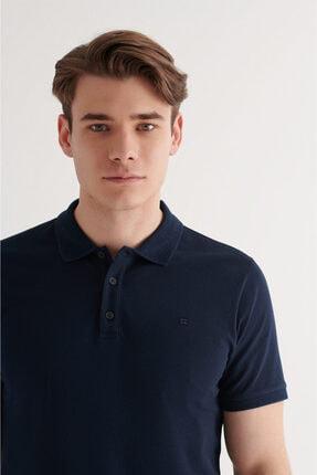 Avva Erkek Lacivert Polo Yaka Düz T-shirt A11b1146 2