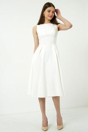Vis a Vis Kadın Beyaz Midi Kolsuz Elbise 0