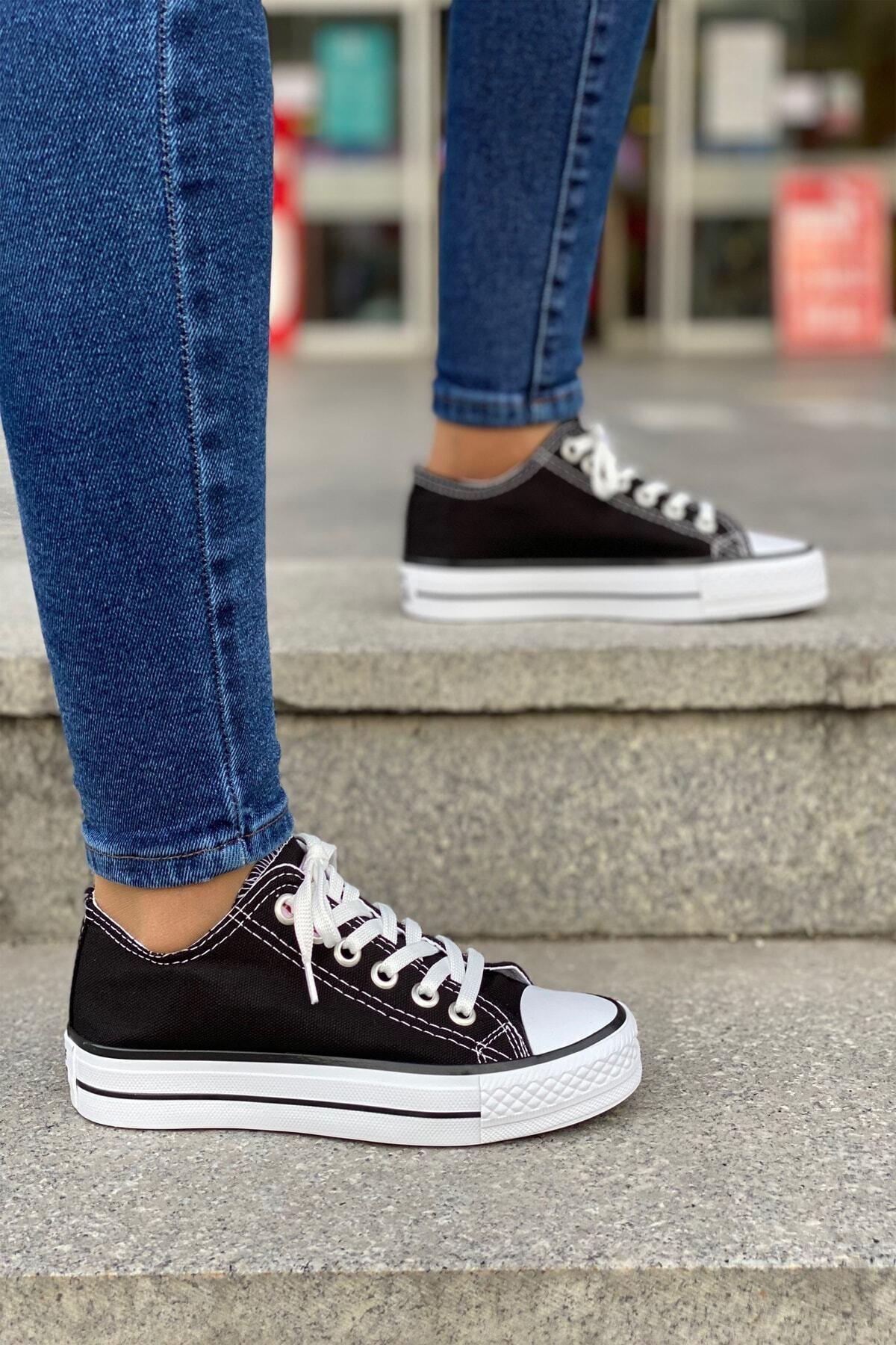 modapapuc Unisex Siyah Cnvrs Ayakkabı