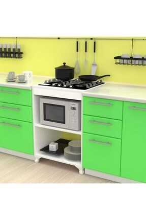 Kenzlife Mutfak Modül Mini Fırın Ankastre Ocak Dolabı Figen Byz 85*60*57 0