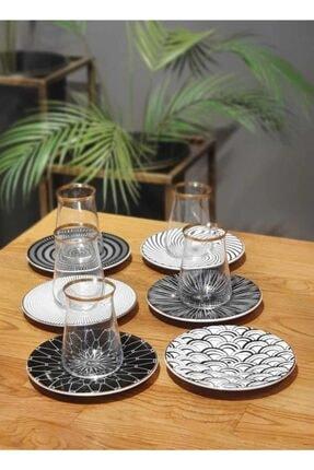 The Mia Hypnos 6 Kişilik Porselen & Cam Çay Bardak Takımı Prs0051 2