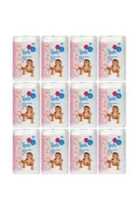 İpek Bebek Temizleme Pamuğu 60 Adet X 12 Paket 0