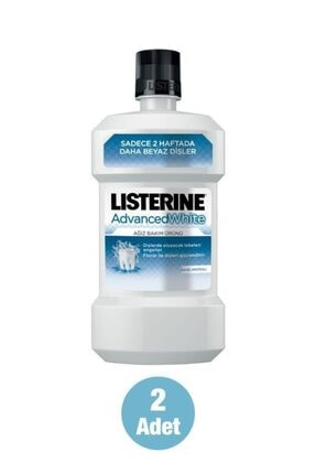 Listerine Advanced White Hafif Tat Alkolsüz Ağız Bakım Suyu 250 ml X2 1
