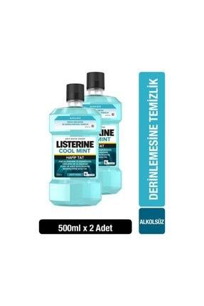 Listerine Cool Mint Hafif Tat Alkolsüz Ağız Bakım Suyu 500ml X 2 1