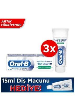 Oral-B Diş Eti Ve Diş Minesi Pro-onarım Ekstra Ferahlık 75 Ml X 3 Adet+ Diş Macunu 15 ml 1